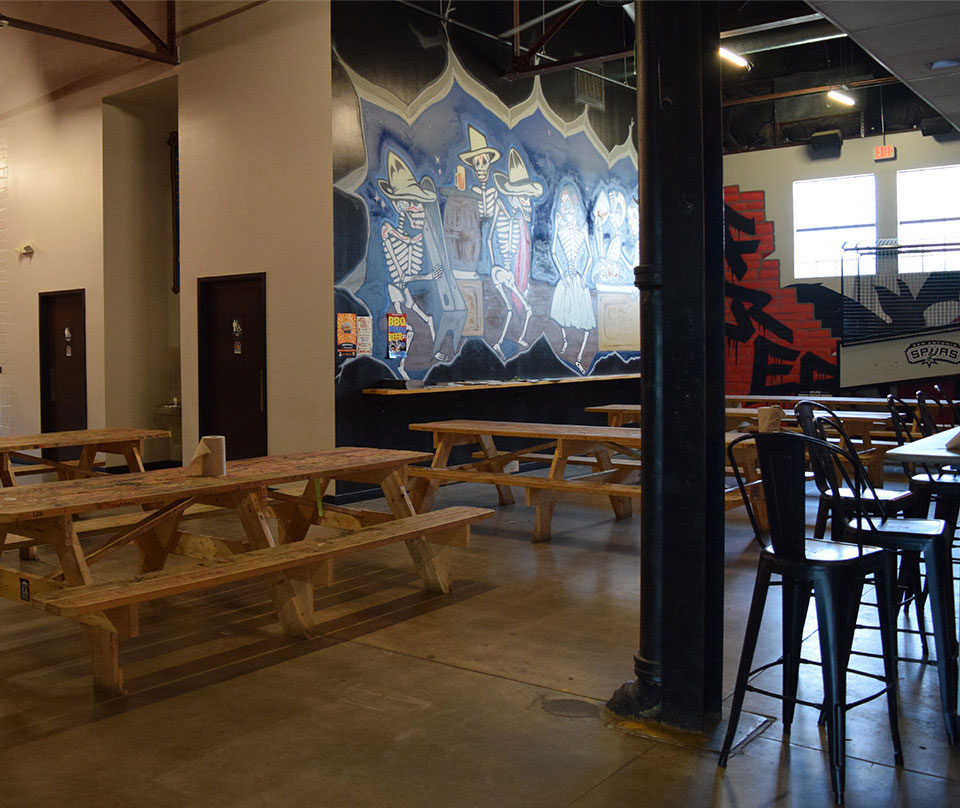 Tap Room Benches at Brewery