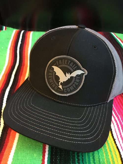 Black Trucker Hat with Freetail Patch