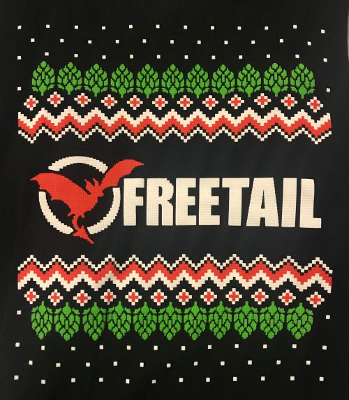 Freetail Logo Between Hops and Pattern
