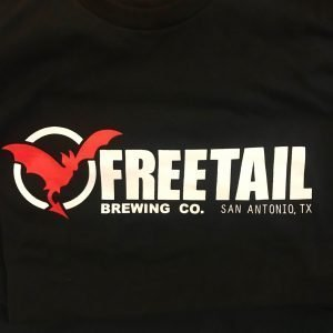 Freetail Logo on Front of Black Tee