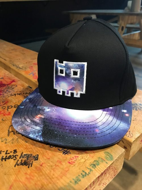 Black Hat with Cosmic Ghost Pixel Logo