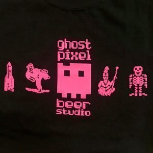 Ghost Pixel Logo on Black Shirt