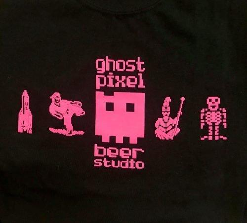 Ghost Pixel Logo on Black Shirt