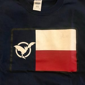 Texas Flag with Bat as Star Black Tee